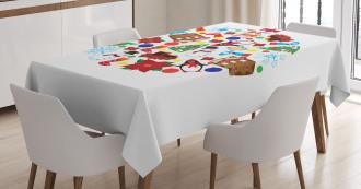 Traditional Noel Joy Tablecloth
