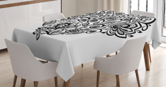 Silhouette Floral Lace Tablecloth