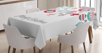 Noel Season Elements Tablecloth