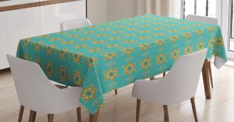 Geometric Tile Tablecloth