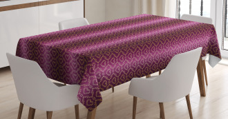 Zigzag and Hearts Tablecloth