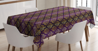 Oriental Leaf Dot Tablecloth