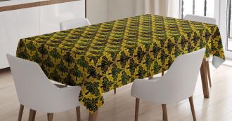 Wave Shape Leaves Tablecloth