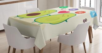 Funny Food Vitamins Tablecloth