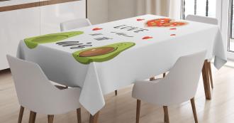 Valentine Fruit Couple Tablecloth