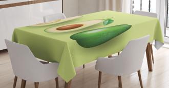 Realistic Half Avocado Tablecloth