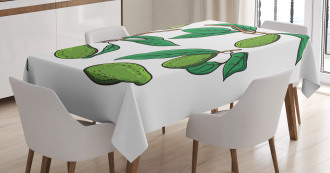 Exotic Fruits on Branch Tablecloth