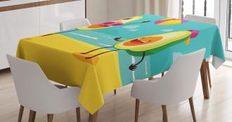 Summer Beach Volleyball Tablecloth