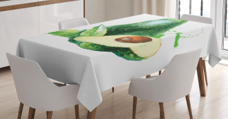 Pastel Exotic Autumn Tablecloth
