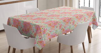 Flowers and Herbs Tablecloth