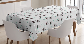Cow Heads Chewing Grass Tablecloth