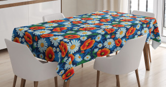 Vibrant Colored Poppies Tablecloth