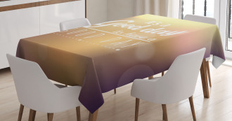 Good Day Themed Phrase Tablecloth