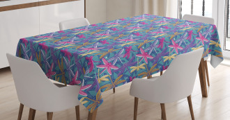 Grunge Colorful Bugs Tablecloth