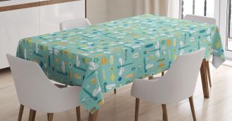 Nursery Style Cartoon Tablecloth