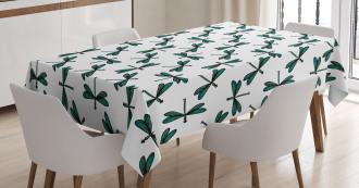 Cartoon Dragonfly Tablecloth