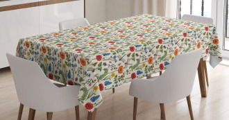 Bugs Plants Flowers Tablecloth