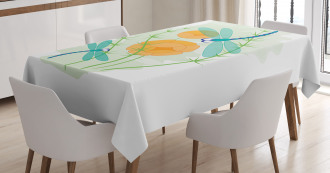 Colorful Nature Bugs Tablecloth