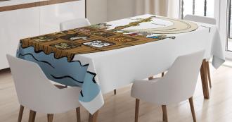 Ancient Flood Story Tablecloth