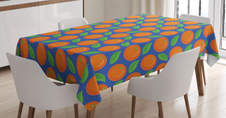Citrus Fruit Green Leaf Tablecloth