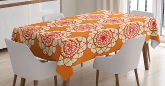 Retro Spirographic Tablecloth