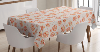 Abstract Flowers Pastel Tablecloth