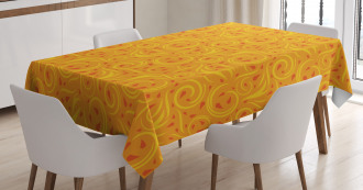 Swirling Autumn Leaves Tablecloth