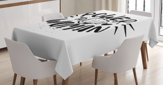 Power Woman Fist Shape Tablecloth