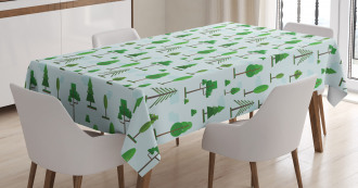 Spring Woodland Tablecloth