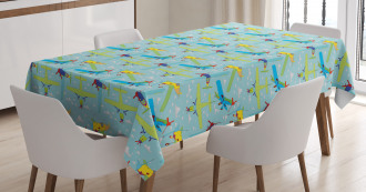 Boys Room Cartoon Tablecloth