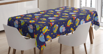 Transportation Boys Tablecloth