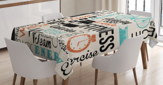 Healthy Life and Sports Tablecloth