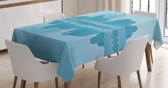 Modern City Building Earth Tablecloth