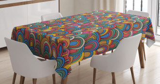 Nautical Wave Design Tablecloth