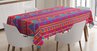 Tribal Zigzags Tablecloth