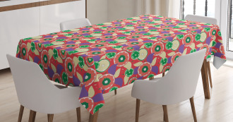 Colorful Lemons Tablecloth