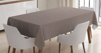 Zebra Stripes Print Tablecloth