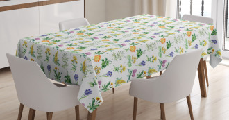 Organic Herbs Sketch Tablecloth