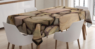 Cottage Stone Wall Tablecloth