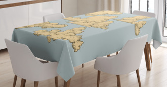 Vintage Clouds in the Sky Tablecloth