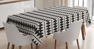 Retro Horizontal Stripes Tablecloth