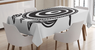 Ethnic Animal with Shell Tablecloth