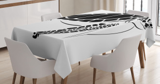 Monotone Caretta Caretta Tablecloth