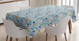 Hipster Animals Bow Tie Tablecloth