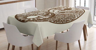 Abstract Hand-Drawn Tablecloth