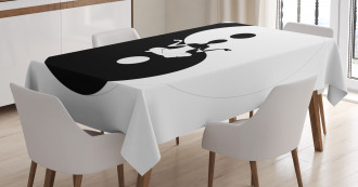 Silhouette Lotus Pose Tablecloth