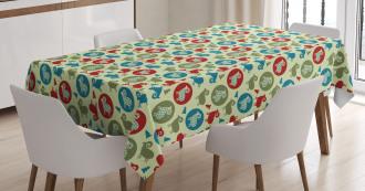 Pine Tree Ram Figure Tablecloth