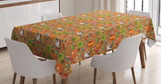 Autumn Forest Creatures Tablecloth
