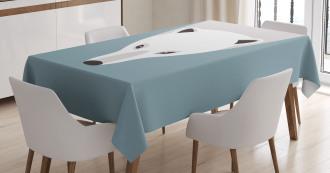 Artistic Flat Design Tablecloth