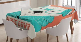 Music Lover Animal Tablecloth